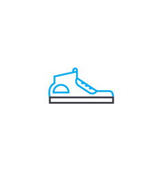 sport shoes thin line stroke icon sport vector image