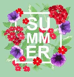 Summer floral background vector