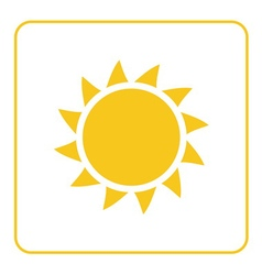Sun icon light yellow background isolated vector