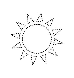 sun sign black dashed icon vector image