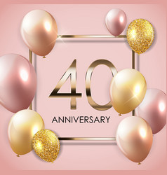 Template 40 years anniversary background with vector