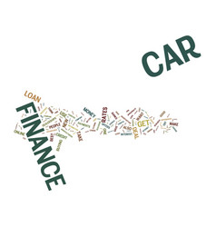 The issue of car finance text background word vector