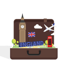 Travel to london great britain concept vector