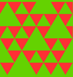 triangle seamless pattern in new year colors vector image