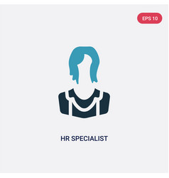 Two color hr specialist icon from professions vector