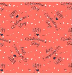 valentines pattern happy valentine day typography vector image