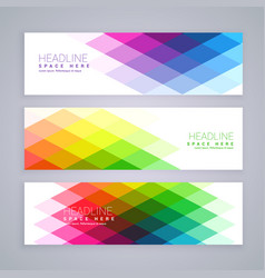 Web banners set made with abstract colorful vector