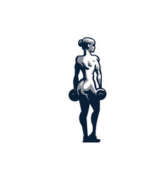 woman fitness vector image