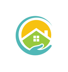 circle home buildings vector image vector image