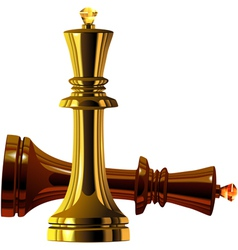 Metal chess king vector