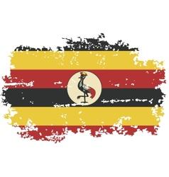 Uganda grunge flag vector image vector image