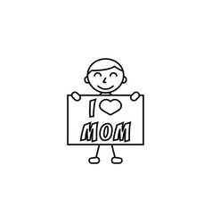 child i love mom vector image