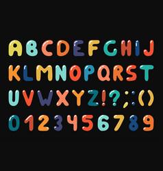 colorful alphabet in retro memphis style - fashion vector image