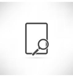 Empty Find Icon vector image vector image