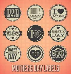 Happy Mothers Day Labels and Icons vector image vector image