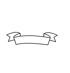 Line cute ribbon to decoration design vector