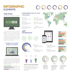 Set of infographics mobile vector image vector image