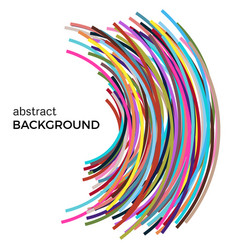 Abstract background with multicolored curved lines vector