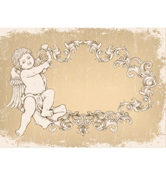 angel with frame vector image vector image