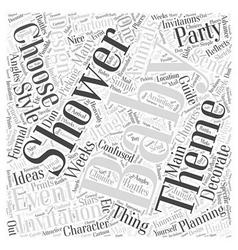 baby shower invitation ideas Word Cloud Concept vector image vector image
