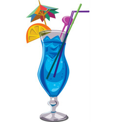 blue lagoon cocktail vector image vector image