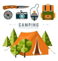 Camping vector image