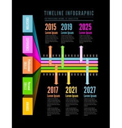 Timeline Web Element Template vector image vector image