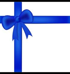 Blue ribbon on white box vector image vector image