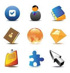 Business contacts icons vector image