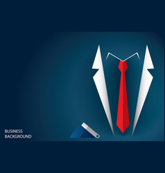 Businessman suit and red necktie vector