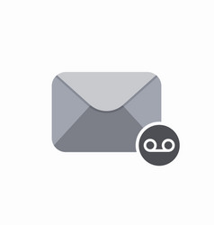 email envelope mail message voice icon vector image