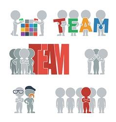 Flat people team vector image vector image