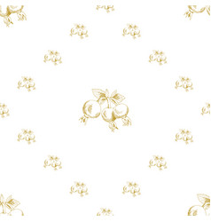 golden sketch briar decor seamless pattern vector image vector image