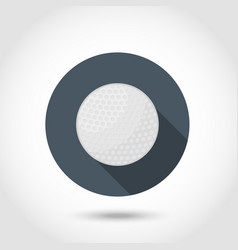 Golf ball icon vector image