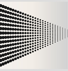 halftone dots black horizontaly located dots vector image vector image