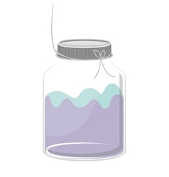 Silhouette glass container with colorful liquid vector
