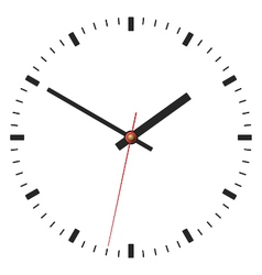 Simple classic clock icon isolated on white vector image vector image