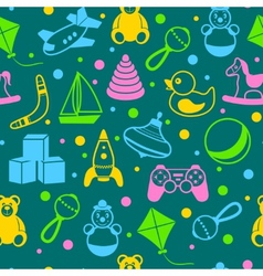 Toys seamless pattern vector image vector image