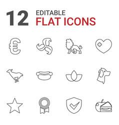 12 emblem icons vector