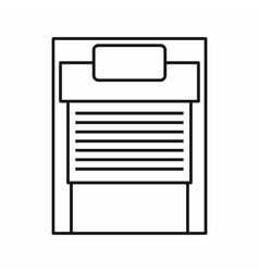 24 hours parking icon outline style vector image