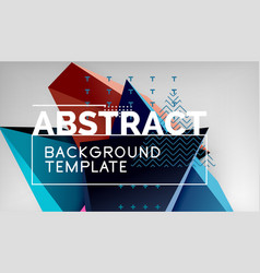 abstract color triangles geometric background vector image