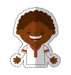 African little boy character vector