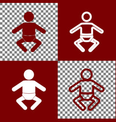 baby sign bordo and white vector image