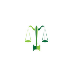 balance and hammer lawyer or attorney for logo vector image