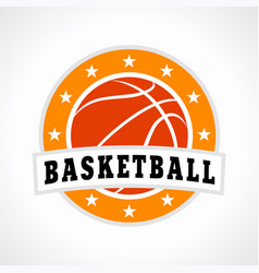 Basketball emblem logo vector