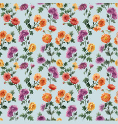 beautiful seamless floral pattern with watercolor vector image