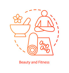 beauty and body training concept icon healthy vector image