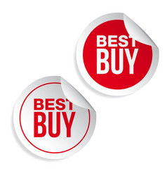 Best buy label sticker vector
