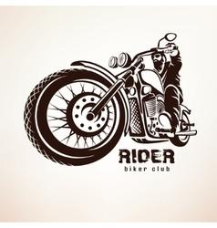 Biker motorcycle grunge silhouette vector