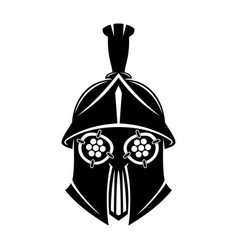 black gladiator helmet vector image